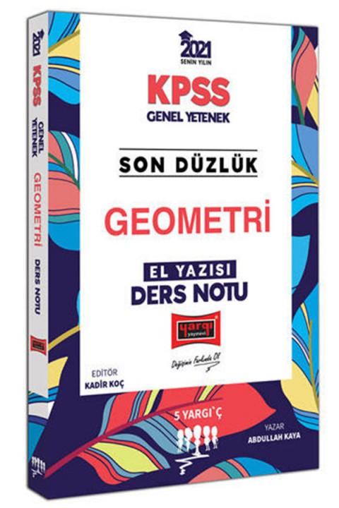 Yargı Yayınları 2021 KPSS Son Düzlük Geometri El Yazısı Ders Notu