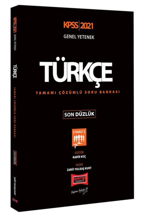 Yargı Yayınları 2021 KPSS Türkçe Son Düzlük Tamamı Çözümlü Soru Bankası