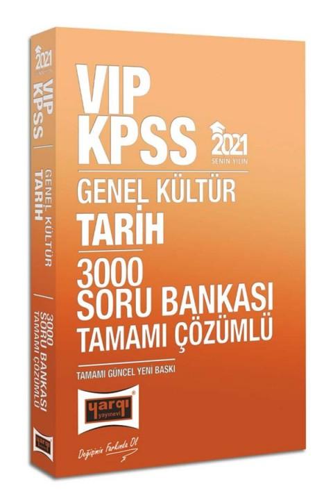 Yargı Yayınları 2021 KPSS VIP Tarih Tamamı Çözümlü 3000 Soru Bankası