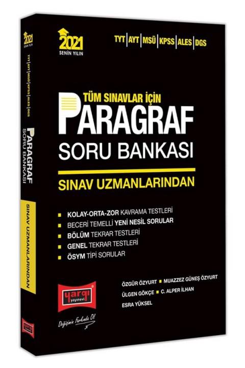 Yargı Yayınları 2021 Tüm Sınavlar İçin Sınav Uzmanlarından Paragraf Soru Bankası
