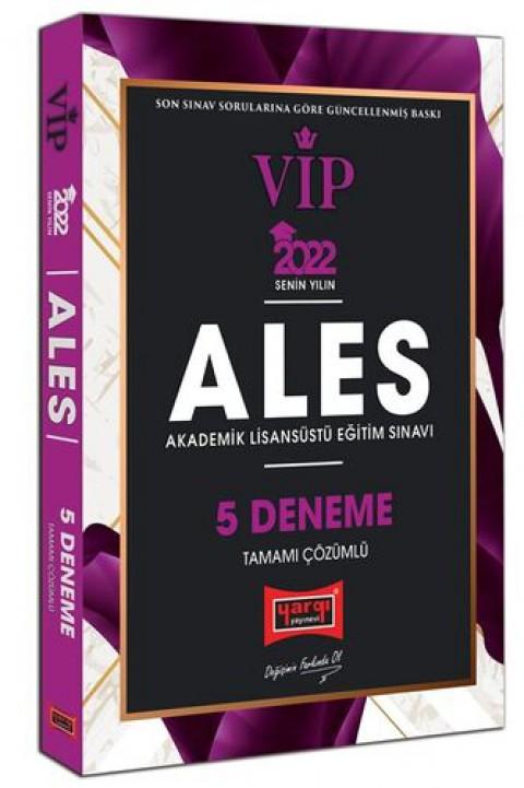 Yargı Yayınları 2022 ALES VIP Tamamı Çözümlü 5 Deneme