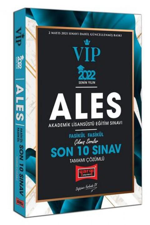 Yargı Yayınları 2022 ALES VIP Tamamı Çözümlü Çıkmış Sorular Fasikül Fasikül Son 10 Sınav