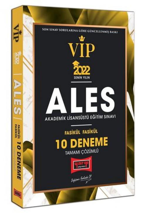 Yargı Yayınları 2022 ALES VIP Tamamı Çözümlü Fasikül Fasikül 10 Deneme
