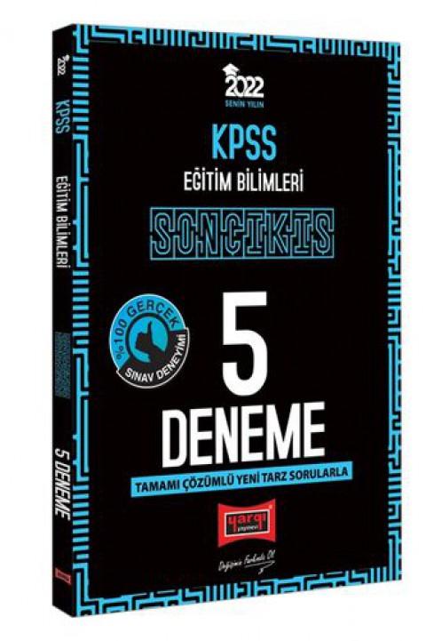 Yargı Yayınları 2022 KPSS Eğitim Bilimleri Son Çıkış Tamamı Çözümlü 5 Deneme
