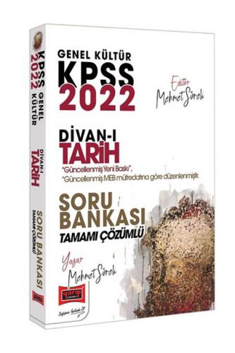 Yargı Yayınları 2022 KPSS Genel Kültür Divan-ı Tarih Tamamı Çözümlü Soru Bankası