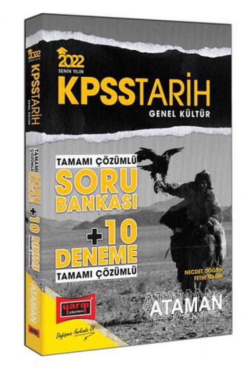 Yargı Yayınevi  2022 KPSS Genel Kültür Tarih Ataman Tamamı Çözümlü Soru Bankası + 10 Deneme
