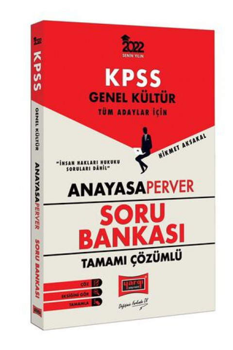 Yargı Yayınları 2022 KPSS Genel Kültür Tüm Adaylar İçin AnayasaPerver Tamamı Çözümlü Soru Bankası
