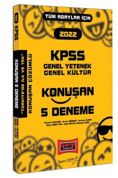 Yargı Yayınları 2022 KPSS Genel Yetenek Genel Kültür Konuşan 5 Deneme