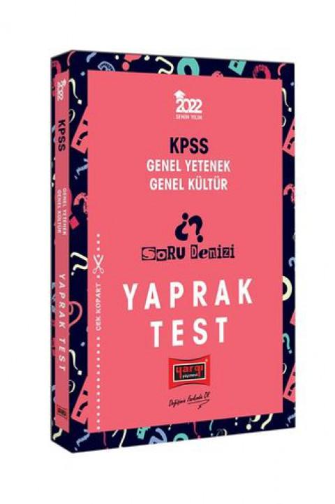 Yargı Yayınları 2022 KPSS Genel Yetenek Genel Kültür Soru Denizi Yaprak Test