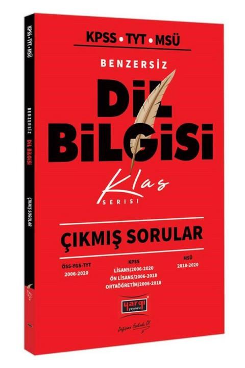 Yargı Yayınları KPSS TYT MSÜ Benzersiz Dil Bilgisi Çıkmış Sorular Klas Serisi
