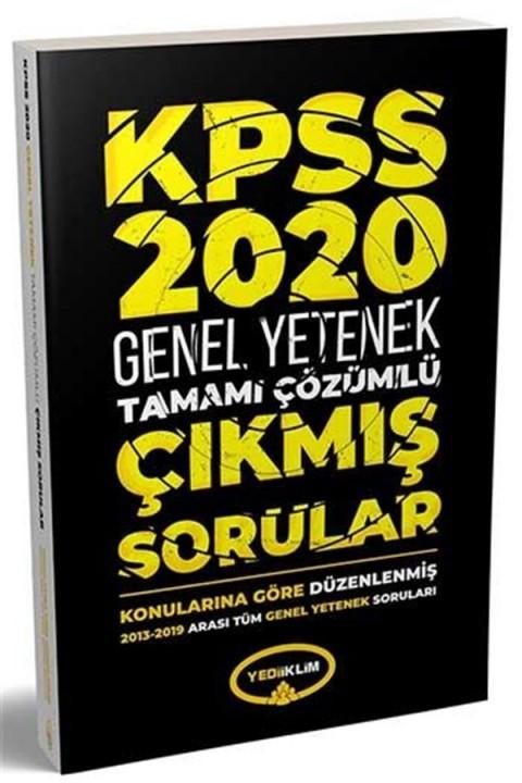 Yediiklim Yayınları 2020 KPSS Genel Yetenek Konularına Göre Düzenlenmiş Çıkmış Sorular