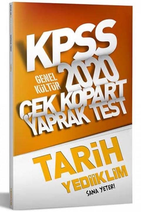 Yediiklim Yayınları 2020 KPSS Tarih Çek Kopart Yaprak Test