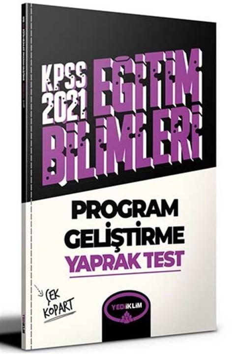 Yediiklim Yayınları 2021 KPSS Eğitim Bilimleri Program Geliştirme Çek Kopart Yaprak Test