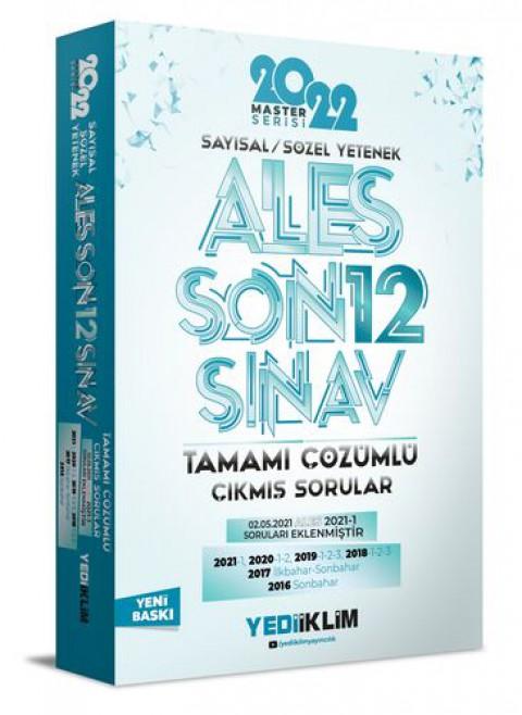 Yediiklim Yayınları 2022 Ales Sayısal-Sözel Yetenek Tamamı Çözümlü Son 12 Sınav Çıkmış Sorular