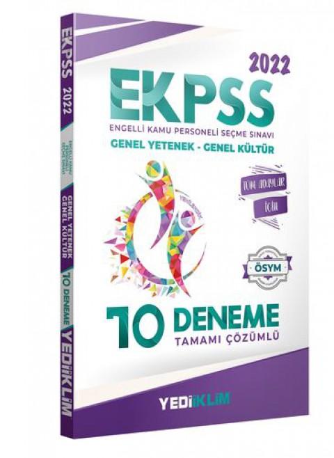 Yediiklim Yayınları 2022 EKPSS Tüm Adaylar Tamamı Çözümlü 10 Deneme
