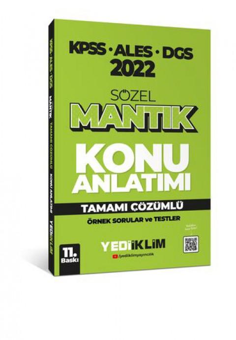 Yediiklim Yayınları 2022 KPSS-ALES-DGS Sözel Mantık Konu Anlatımı
