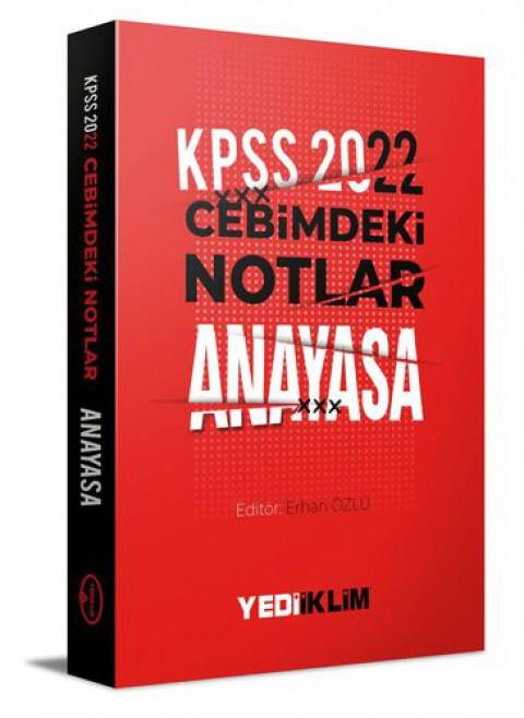Yediiklim Yayınları 2022 KPSS Cebimdeki Notlar Anayasa Kitapçığı