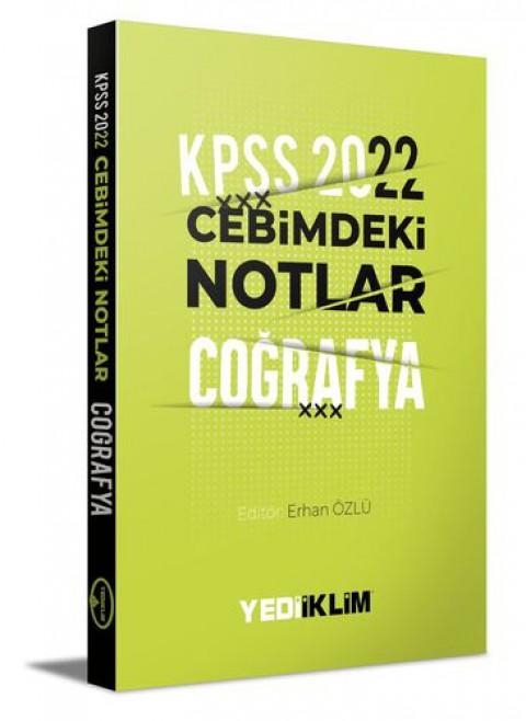 Yediiklim Yayınları 2022 KPSS Cebimdeki Notlar Coğrafya Kitapçığı