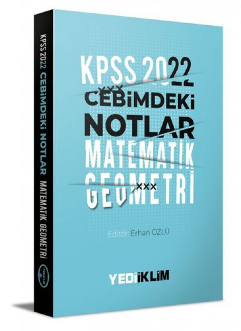 Yediiklim Yayınları 2022 KPSS Cebimdeki Notlar Matematik-Geometri Kitapçığı