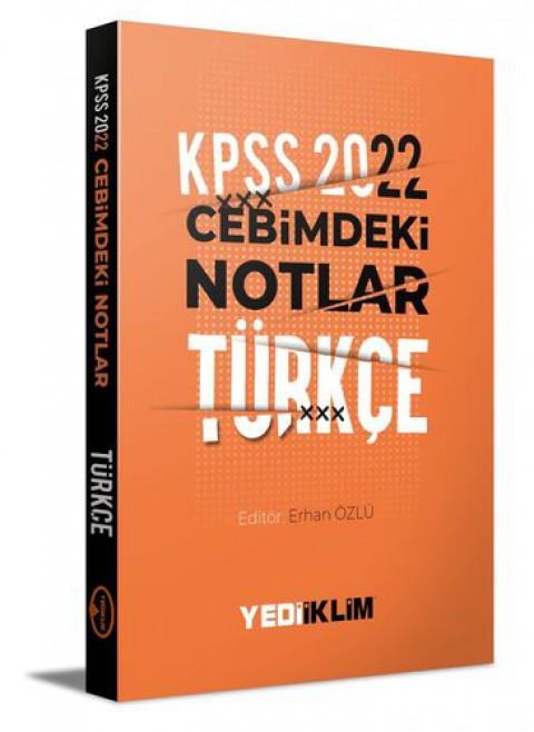 Yediiklim Yayınları 2022 KPSS Cebimdeki Notlar Türkçe Kitapçığı