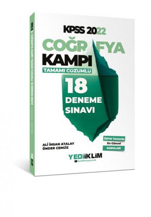 Yediiklim Yayınları 2022 KPSS Coğrafya Kampı Tamamı Çözümlü 18 Deneme Sınavı