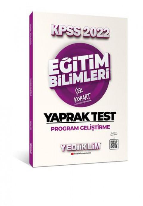 Yediiklim Yayınları 2022 KPSS Eğitim Bilimleri Program Geliştirme Çek Kopart Yaprak Test