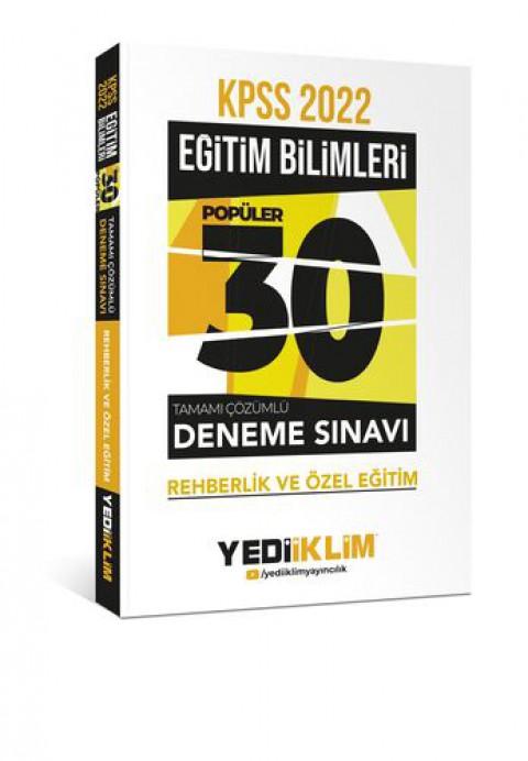 Yediiklim Yayınları 2022 KPSS Eğitim Bilimleri Rehberlik ve Özel Eğitim Tamamı Çözümlü 30 Popüler Deneme