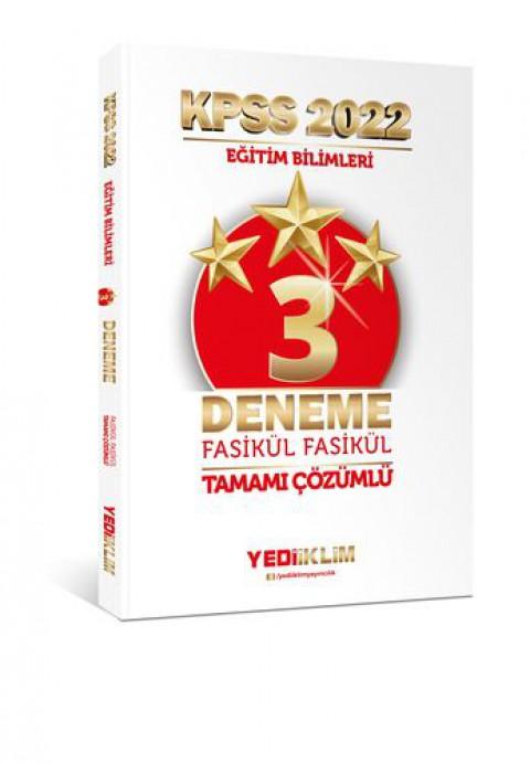 Yediiklim Yayınları 2022 KPSS Eğitim Bilimleri Tamamı Çözümlü Fasikül 3 Yıldız Deneme