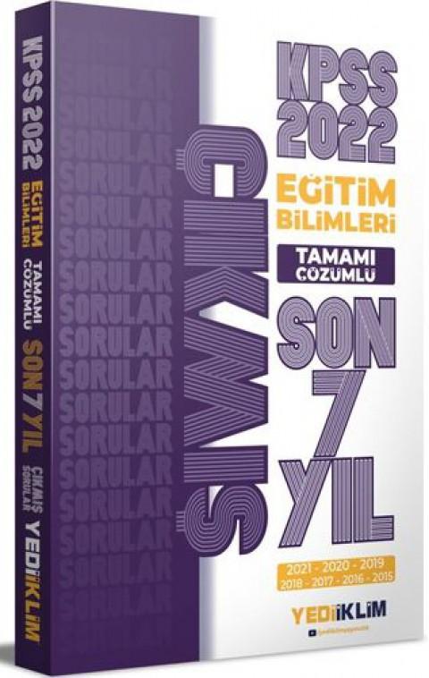 Yediiklim Yayınları 2022 KPSS Eğitim Bilimleri Tamamı Çözümlü Son 7 Yıl Çıkmış Sorular