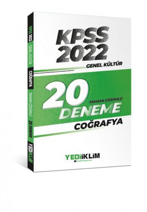 Yediiklim Yayınları 2022 KPSS Genel Kültür Coğrafya Tamamı Çözümlü 20 Deneme Sınavı