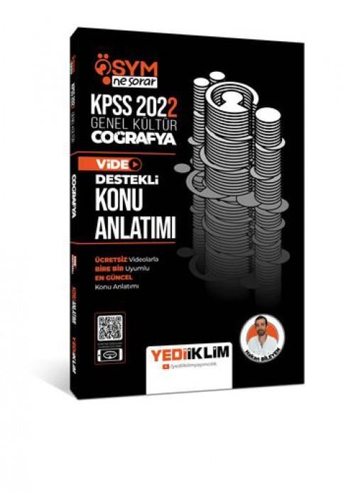 Yediiklim Yayınları 2022 KPSS Genel Kültür ÖSYM Ne Sorar Coğrafya Video Destekli Konu Anlatımı