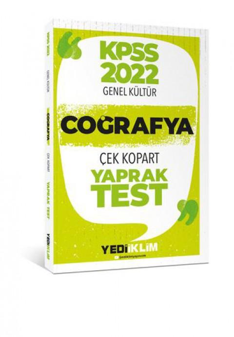 Yediiklim Yayınları 2022 KPSS Lisans Genel Kültür Coğrafya Çek Kopart Yaprak Test