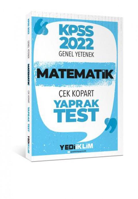 Yediiklim Yayınları 2022 KPSS Lisans Genel Yetenek Matematik Çek Kopart Yaprak Test
