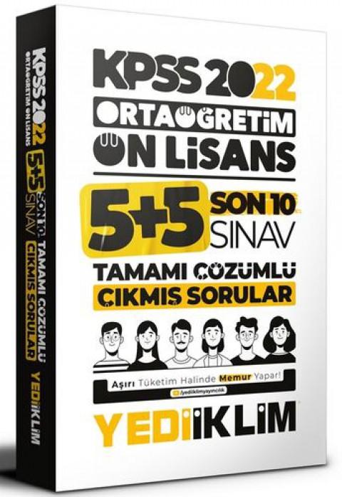 Yediiklim Yayınları 2022 KPSS Ortaöğretim Ön Lisans GY-GK Son 10 Sınav Tamamı Çözümlü Çıkmış Sorular
