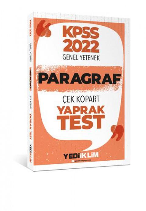 Yediiklim Yayınları 2022 KPSS Paragraf Çek Kopart Yaprak Test