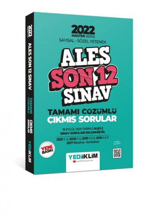 Yediiklim Yayınları 2022 Master Serisi ALES Sayısal- Sözel Yetenek Son 12 Sınav Tamamı Çözümlü Çıkmış Sorular