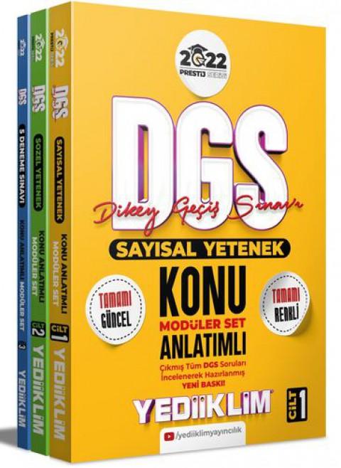 Yediiklim Yayınları 2022 Prestij Serisi DGS Konu Anlatımlı Modüler Set(3 Cilt)