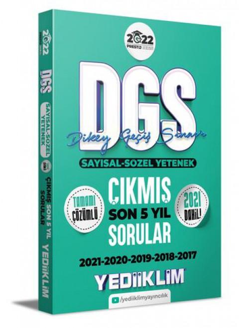 Yediiklim Yayınları 2022 Prestij Serisi DGS Tamamı Çözümlü Son 5 Yıl Çıkmış Sorular
