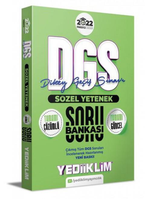 Yediiklim Yayınları 2022 Prestij Serisi Dgs Sözel Yetenek Tamamı Çözümlü Soru Bankası