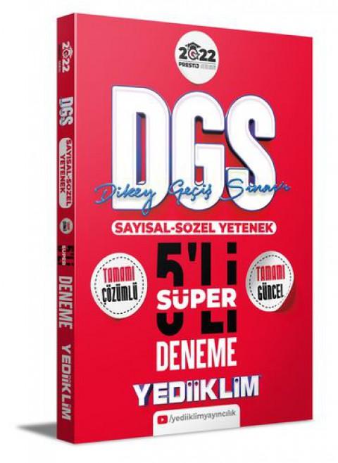 Yediiklim Yayınları 2022 Prestij Serisi Dgs Tamamı Çözümlü Süper 5 Deneme