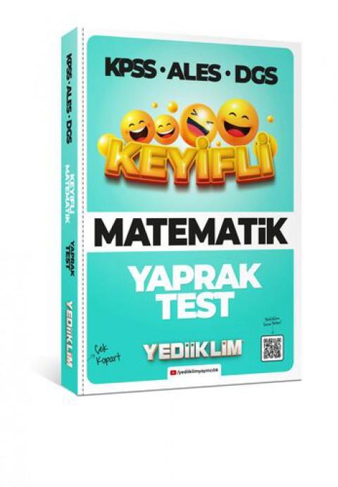 Yediiklim Yayınları KPSS-ALES-DGS Keyifli Matematik Tamamı Çözümlü Çek Kopart Yaprak Test