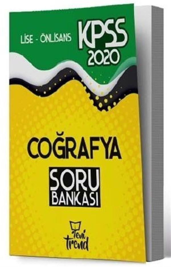 Yeni Trend Yayınları 2020 KPSS Lise Önlisans Gy Gk Coğrafya Soru Bankası