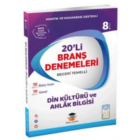 Zeka Küpü Yayınları 8. Sınıf Din Kültürü ve Ahlak Bilgisi 20 Deneme
