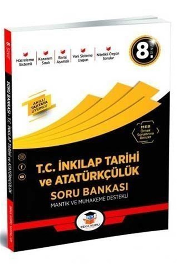 Zeka Küpü Yayınları 8. Sınıf T.C. İnkılap Tarihi ve Atatürkçülük Soru Bankası